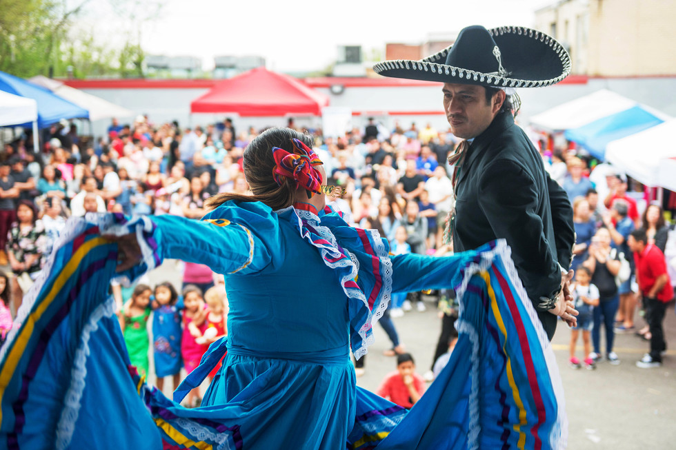 Guillermo Velazquez and Leticia Velasco perform a traditional Mexican dance on Saturday, May 5, 2018, in Beechview, during a Cinco de Mayo charity event. Velazquez is the Director of Special Projects for Pittsburgh Hispanic Development Corporation who sponsored the event.