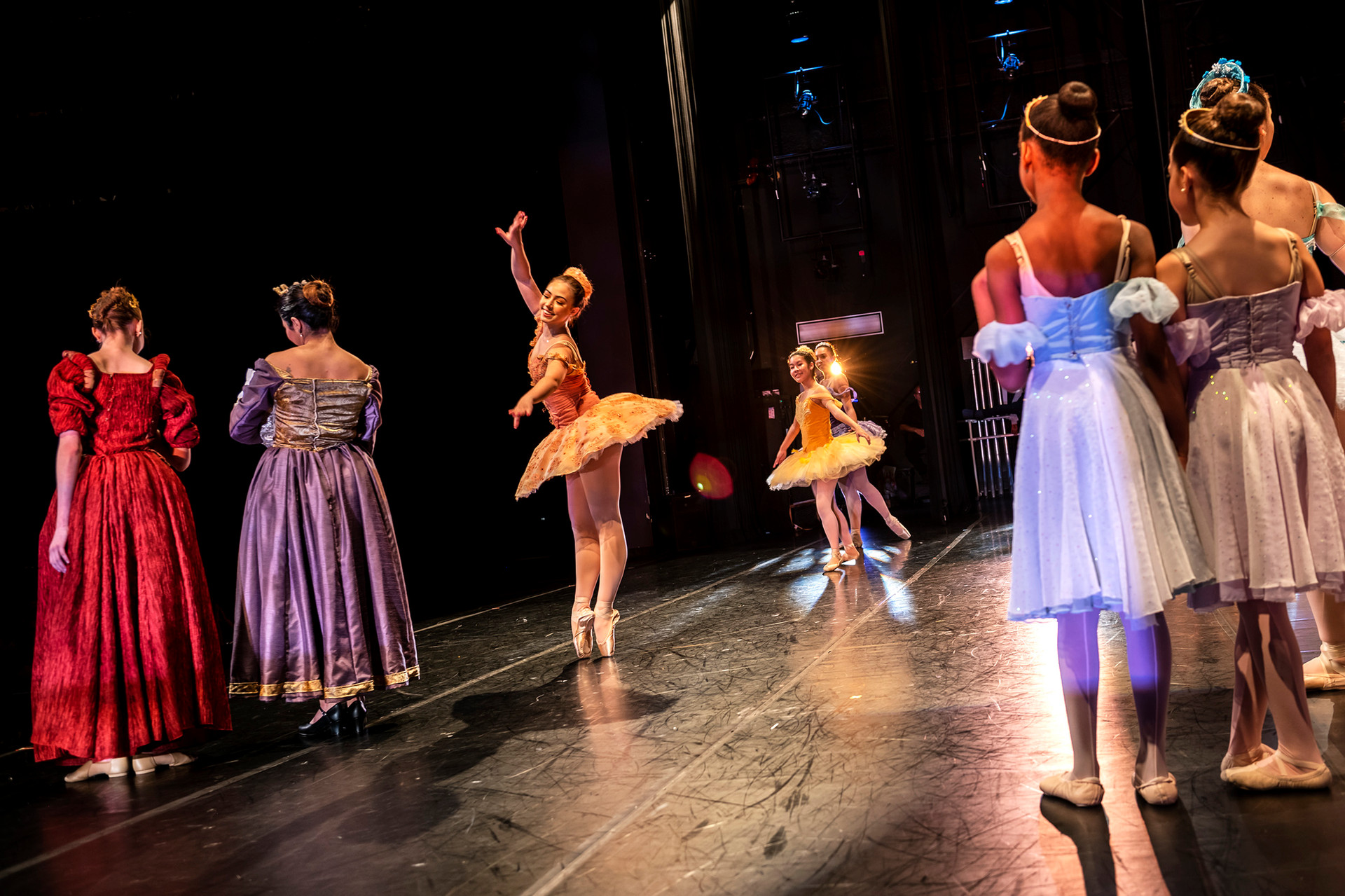 """Students from the Pittsburgh Youth Ballet Company perform in """"The Sleeping Beauty Suite"""" during the Pittsburgh's Youth Ballet Company annual Spring Performance dance recital, Saturday, June 1, 2019, at the August Wilson African American Cultural Center in Downtown."""