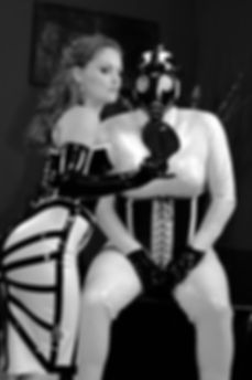 Mistress Gemini and rubber slave