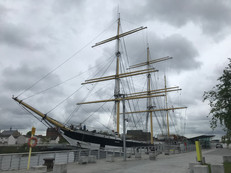 Tall ship at the Riverside Museum