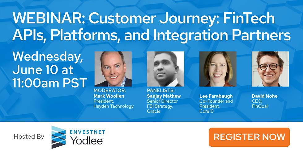 Customer Journey: FinTech APIs, Platforms, and Integration Partners