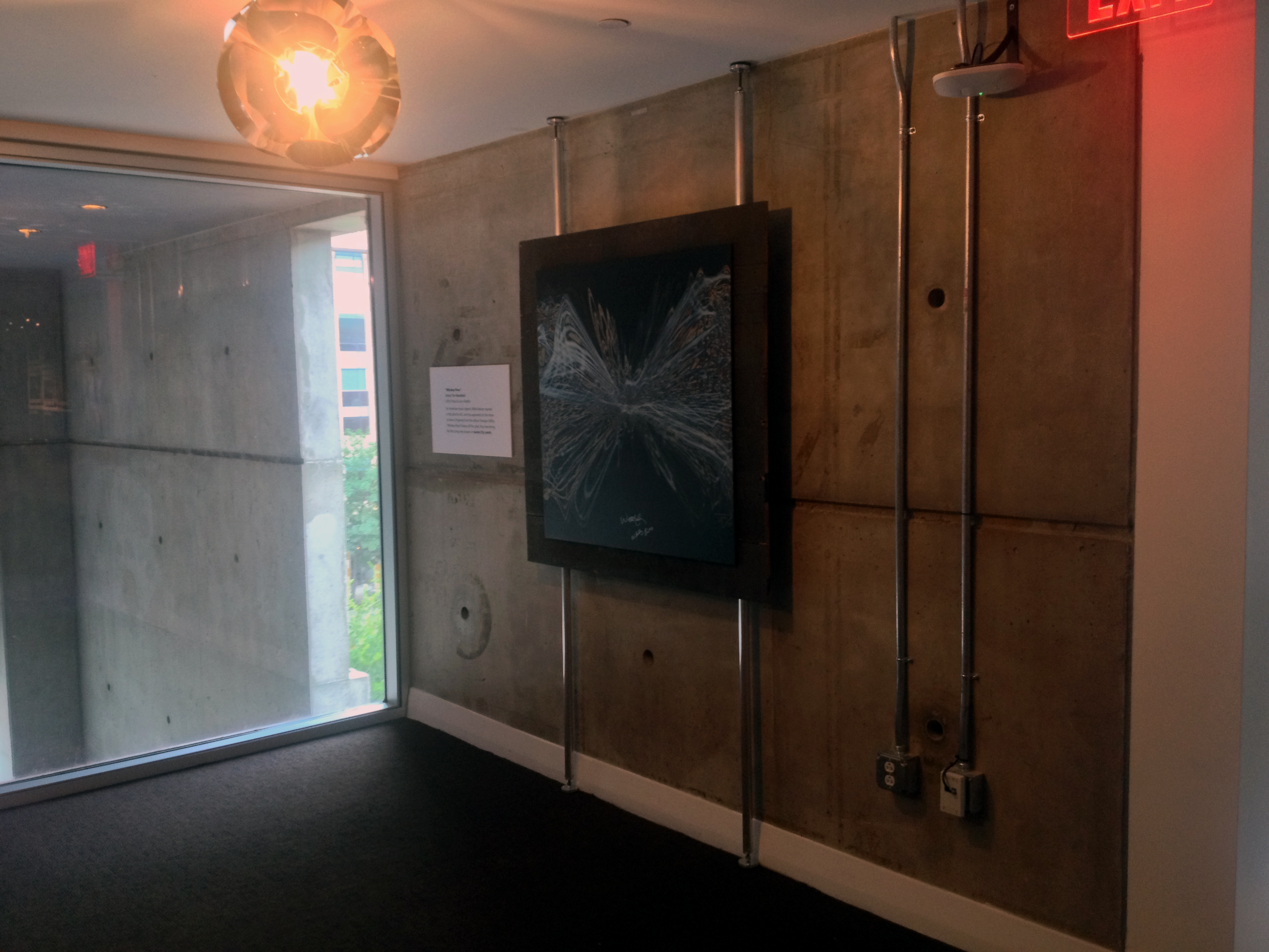 Picture hanging art installation