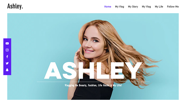 プロフィール website templates – Personal Vlog