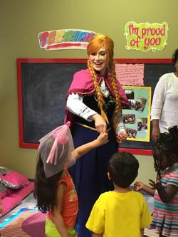 Anna Visits Alysiana's Daycare