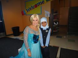 Elsa Visits Leila
