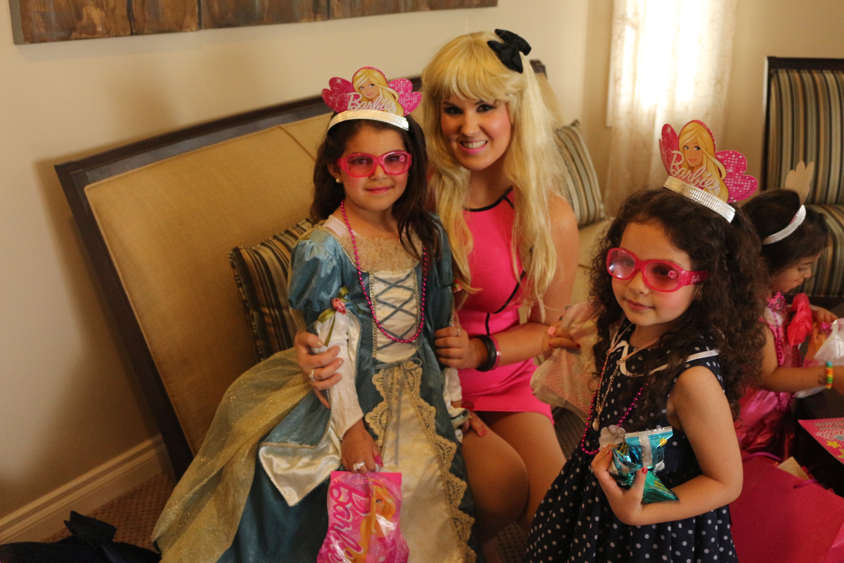 Zahra and Zaina's Barbie Party