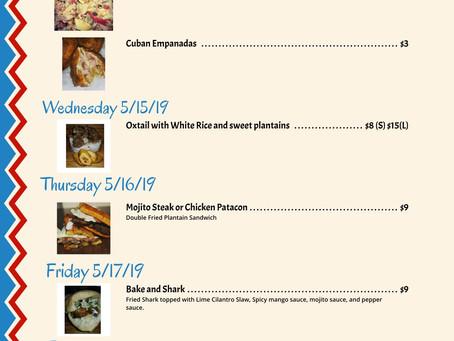 Delicious Menu for 5/12/19-5/17/19