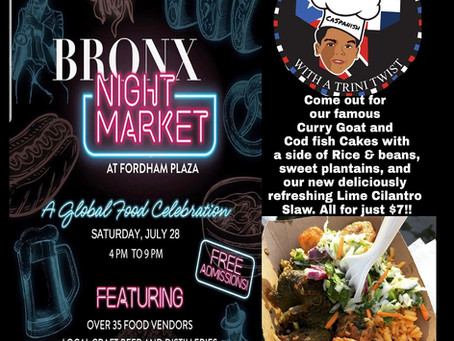 CaSpanish will be at the Bronx Night Market again July 28th!!