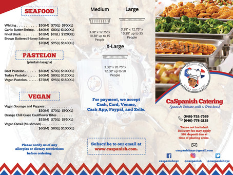 Our New Catering Menu is Here!