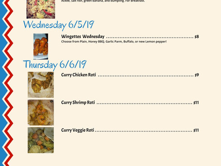HMMM!! Menu for this week ! You can start ordering now