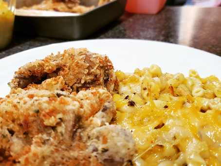 Playing in the Kitchen: 100% Vegan Fried Chicken and 100% Vegan Mac and Cheese