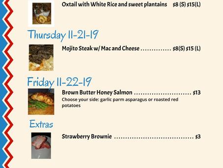The menu's here! 11/18-11/22