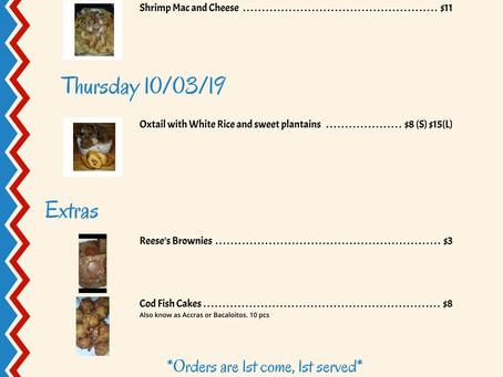 Calling all CaSpanics! The menu is here.
