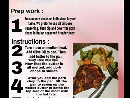 CaSpanish Easy Pan Fried Pork Chops