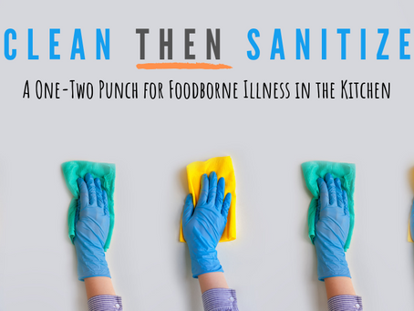How to properly clean and sanitize your kitchen.