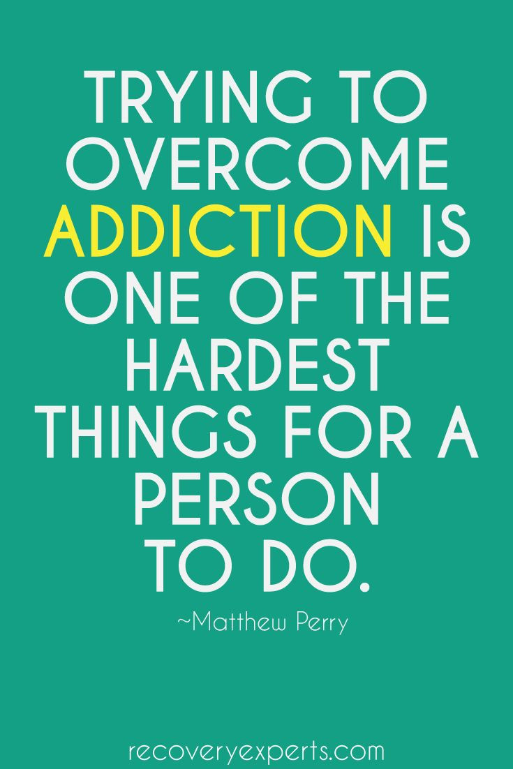 Trying to overcome addiction is one of the hardest things for a person to do.