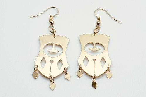 Boucles d'oreilles pendantes Primitif II