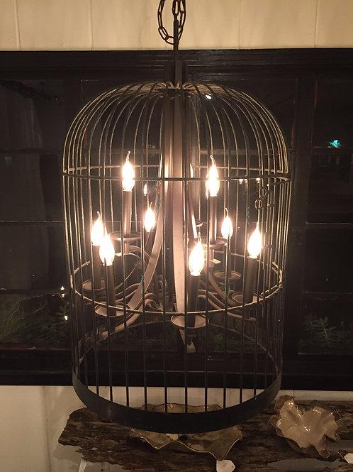 Vintage Bird Cage Candelabra Hanging Light