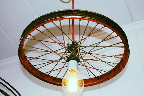 Vintage - Steam Punk Bike Wheel Swag Pendant