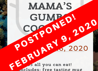 Gumbo cook off postponed!