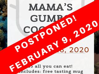 Gumbo cook off postponed!
