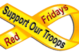 Wear Red every Friday To Support our Troops