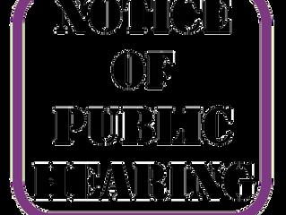 Notice of Public Hearing 5.28.2020