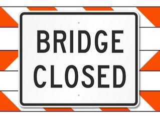 Keller Street Bridge Closed