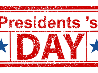 Office closed for President's Day- Monday, Feb. 20th, 2017