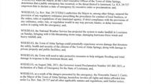 Emergency Declaration from Mayor Curtis ahead of landfall of Hurricane Ida