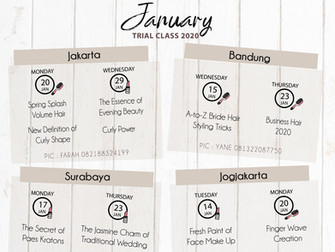 Beauty Calendar 2020: January Trial Class