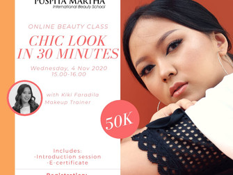 Chic Look in 30 Minutes (Beauty Makeup) Online Beauty Class