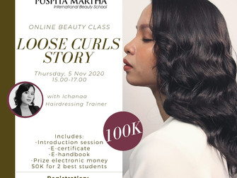 Loose Curls Story (Hairstyling) Online Beauty Class