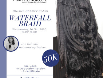 Waterfall Braid (Hairstyling) Online Beauty Class