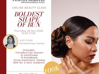 Boldest Shape of Bun (Hair do) Online Beauty Class
