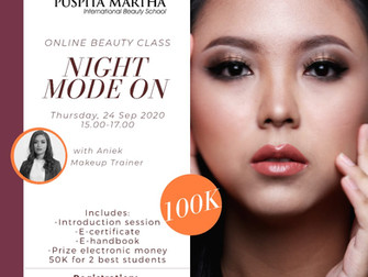 Night Mode On (Glamour Makeup) Online Beauty Class