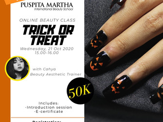 HALLOWEEN SPECIAL Trick or Treat (Nailart) Online Beauty Class