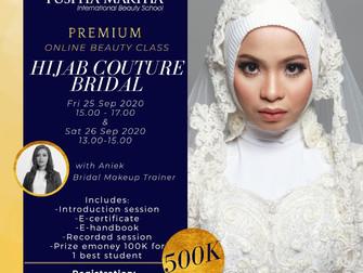 Hijab Couture Bridal (Modern Bridal Makeup & Hijab-do) Online Beauty Class
