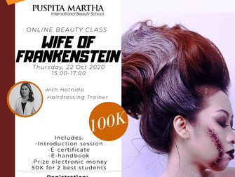 HALLOWEEN SPECIAL 🎃 Wife of Frankenstein (Hairstyling) Online Beauty Class