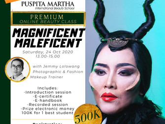 HALLOWEEN SPECIAL 🎃 Magnificent Maleficent (Character Makeup) Online Beauty Class