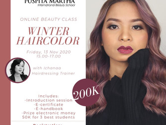 Winter Haircolor (Haircoloring) Online Beauty Class