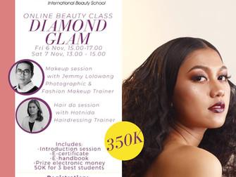 Diamond Glam (Fashion Makeup & Hair do) Online Beauty Class