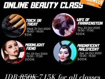 HALLOWEEN SPECIAL 🎃 Hanya dengan R̶p̶ ̶8̶5̶0̶.̶0̶0̶0̶ Rp 715.000 bisa mengikuti 4 kelas, Beauties!