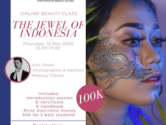 The Jewel of Indonesia (Creative Makeup) Online Beauty Class