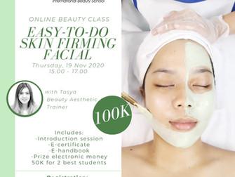Easy-to-do Skin Firming Facial Online Beauty Class