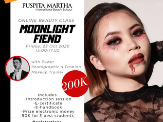 HALLOWEEN SPECIAL 🎃 Moonlight Fiend (Creative Makeup) Online Beauty Class