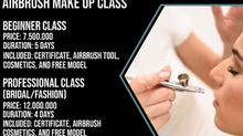 New Airbrush Make Up Class at Puspita Martha!