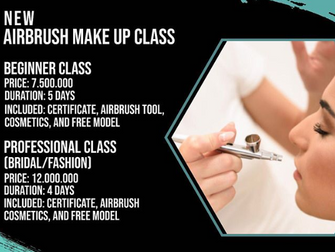 New Airbrush Make Up Class at Puspita Martha!