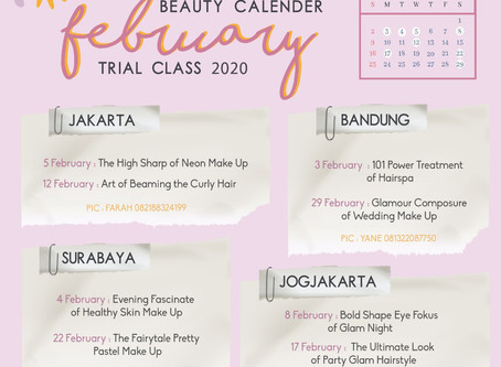 Beauty Calendar 2020: February Trial Class