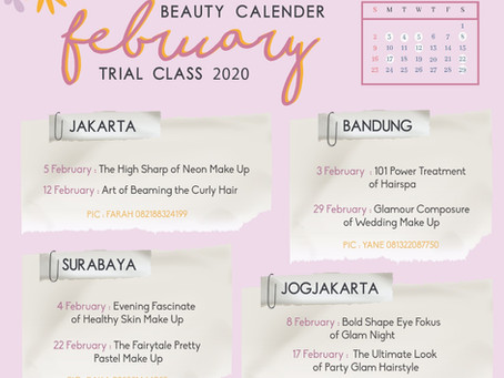 Beauty Calendar 2020: February Trial Class